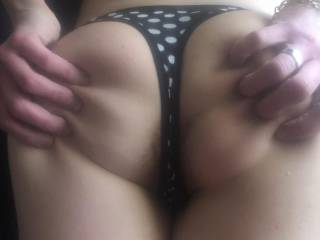 She begging for it getting her oerfect ass ready for a pounding while she lick wfymey