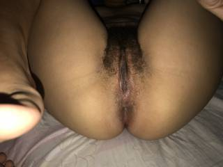 Spread pussy and ass of my girlfriend