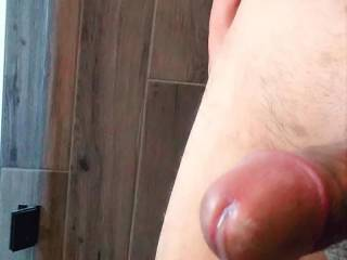 Enjoyed stocking my cock to orgasm before going in the shower.