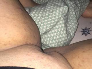 spreading legs to show off pussy