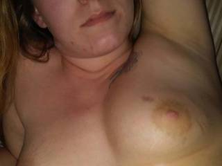27yo Blonde milf gf has small tits and big puffy nipples
