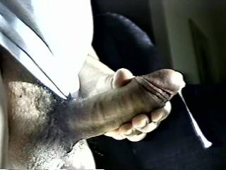 ummm. that's a hot cock! sooooo fat and veined and heavy! i wish i could have been there to catch that cum and swish it around in my mouth. i savor thick hot cum from a major cock!