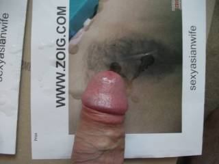 Managed some for both pis of Sexyasianwife\' pics ,I love her hairy pussy
