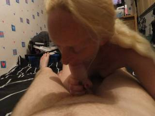 love to have those lips sliding down my hard cock