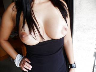 i want to lick them all over, kiss those nipples,  gently touch them till they as hard as my cock