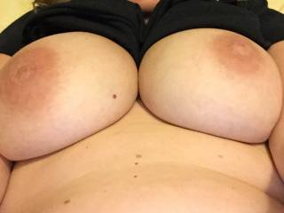 Mmm I bet it did, those big tits are beautiful, hope they got played with when u got home