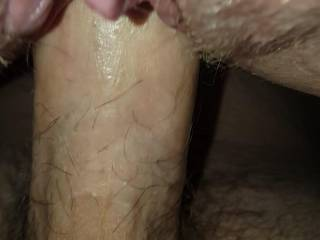 Me finishing her off and cumming in her!