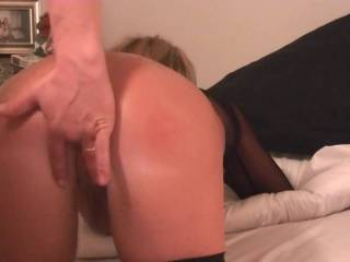 Loving on and fingering my wife's tight ass hole