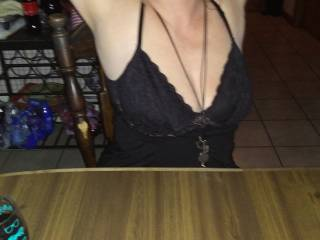 we were at a party  and she was showing off for all to see