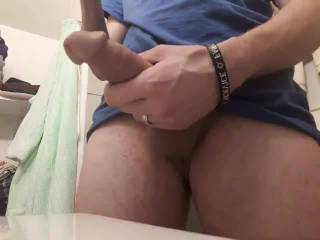 I always love whipping out my cock and playing with it until I explode