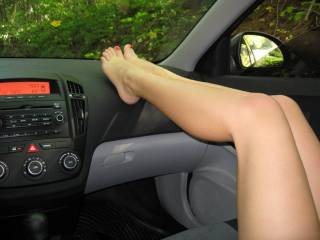 my favorite view sexy feet on a dash.. I have jacked off following someone with there feet on the dash many times.... omg it is so hot  thanks for sharing