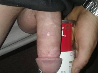 Just something to compare it to, so u can c how fat my cock is