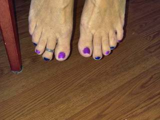 Look at my wife bare feet tell me what would you do to them