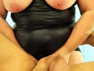 Seeing her tits bounce as she fucks me, gets me sooooo hard. Hope you like.