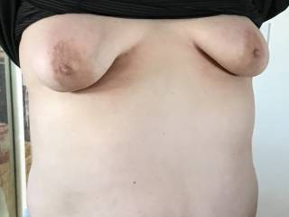 Wife flashing us. What do you think? What would you do?