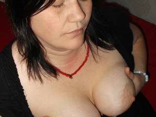 Shy Swedish milf Ellenor showing off her tits