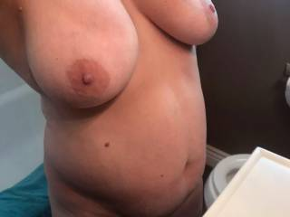 after i posted her friends tits wife said you better show my twins...so for her tit fans here ya go...