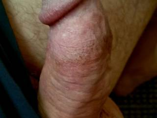 Morning wood popped out of running shorts