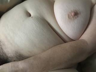 Wifey and her milky white big tits