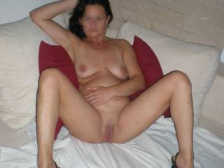 nice milf showing pussy