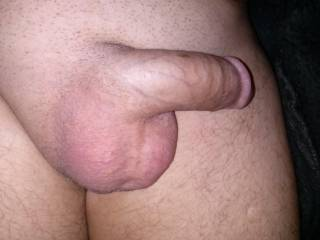 great cock and balls. i would love to give you a blowjob