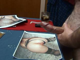 notice the puddles of cum all around the photo of Outlaw1991\'s hot pussy and ass. I was still working on making more....