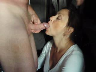 Candi Annie loves to be feed her favorite juice!  She strokes, licks & socks Al\'s cock until her mouth and face are covered! Enjoy!