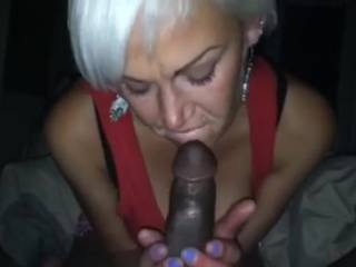 I love sucking on this big black hard cock until I earn my well deserved cream