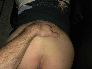 She moans loud as she gets his fat cock in her wet pussy