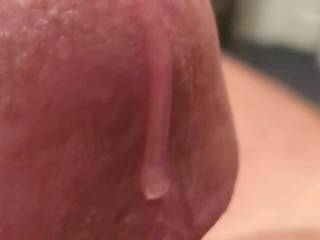 Was able to get a decent precum flow during my edging session the morning.  I hope you enjoy watching and I look forward to comments
