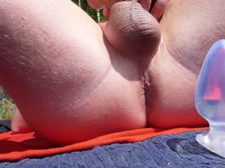 my big buttplug about to get inside me.