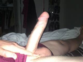 i'm thinking nice long slow stroke up n down that long hard cock with my pussy