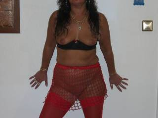 Wow, you're incredibly sexy with this outfit! That pic is making my cock really hard!