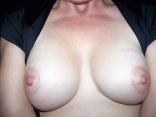 Nice!  I'd love to suck and nibble those nipples until they're long and hard.