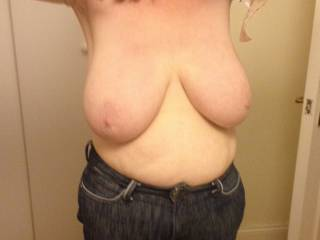 as soon as hes out the door, im gonna have this big cock out and between those tits