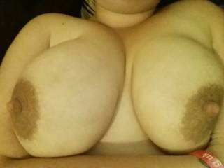 wow those are awesome nipples, lucky man! She's beautiful
