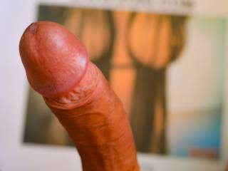 Kimmers75`s tits and my hard, precumming cock.
