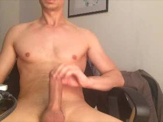 hot wank session and cumshot