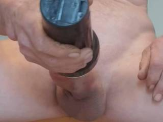 Using my toy to make my hard Cock Cum!!