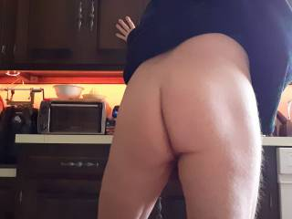 Showing off my ass to my wife.