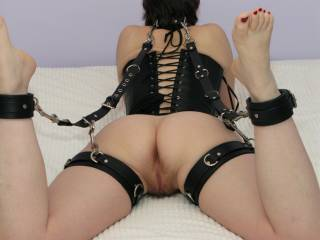 rear view during bondage session!