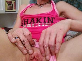 Just showing my pussy for hubby