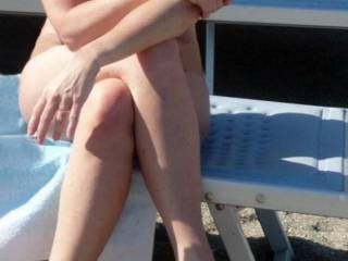 mature wife naked on public beach