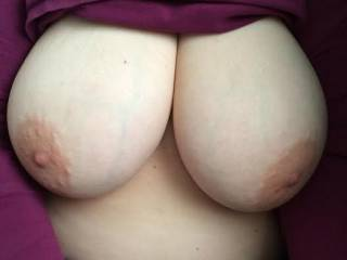 Loved having my cock head pointing at them big tits!