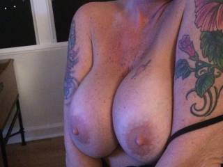 Wife showing those beautiful tits