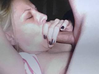 after a nice titty fucking she\'s getting her creamy reward...who wants to go next