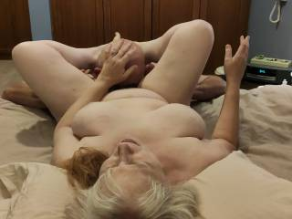 OMG! I am in heaven! I love my pussy being eaten... Will you feast on my married pussy? I want your tongue nice and deep to taste all of my pussy juices.