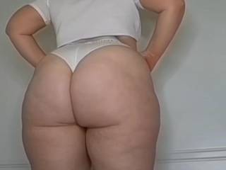 A thick ass white girl that my wife ordered up for me. Perfect