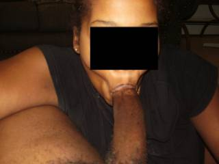 Yes.....I can see that huge sexy black cock sliding in and out of my mouth as I suck it.  Think I can get you off?  K