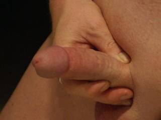 Your shaved cock looks great, and I love those big, smooth balls.